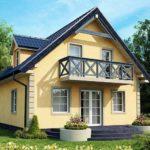 Проект каркасного дома с мансардо №2